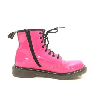 """Dr Martens """"Delaney"""" Pink Youth Zip-Up Boots 3"""